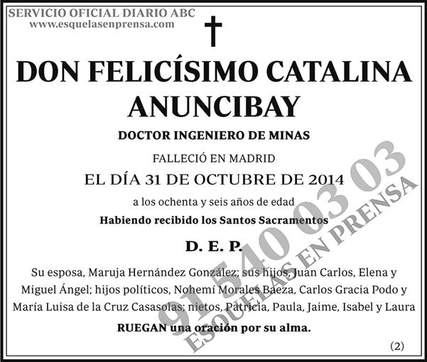 Felicísimo Catalina Anuncibay